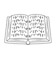 Book written in braille icon in outline style