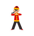 boy in traditional chinese costume showing martial vector image vector image
