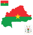 Burkina Faso Flag vector image vector image