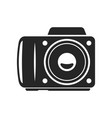 camera bold black silhouette icon isolated vector image