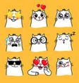 cats mood emoji vector image vector image