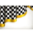 Checkered invitation background vector image vector image