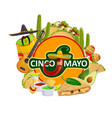 cinco de mayo mexican fiesta holiday vector image vector image