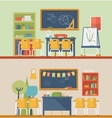 Classroom for literature and mathematics vector image vector image
