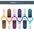 clean and colourful timeline infographics vector image vector image