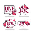 collection of hearts and love logo emblems vector image vector image