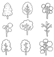 Collection of tree hand draw vector image vector image