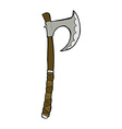 comic cartoon viking axe vector image vector image