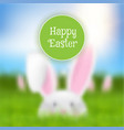 easter background with defocussed rabbit landscape vector image vector image