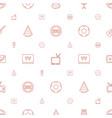 entertainment icons pattern seamless white vector image vector image