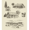 farm and vintage hand drawn vector image vector image