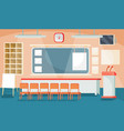 flat of a business interior vector image
