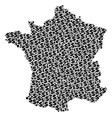 france map gdp composition of dollar and dots vector image