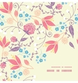 fresh field flowers and leaves frame corner vector image vector image