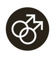 gay gender symbol sexual orientation block vector image vector image