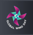 global wind day vector image