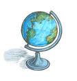 globe on stand vector image vector image