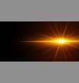 glowing light effect on black background design vector image vector image