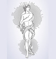 greek god the mythological hero of ancient greece vector image