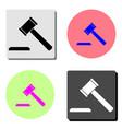 hammer judge flat icon vector image
