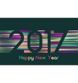 Happy New Year 2017 background Calendar template vector image vector image