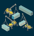 heavy equipment and logistics vector image vector image