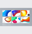 liquid design presentation template with colourful