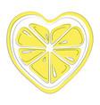 logo lemon in form heart stylized slice vector image