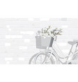 magnolia flowers and vintage bicycle vector image vector image