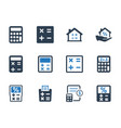 math and calculation icons vector image