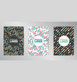 modern colorful cover design background set a4 vector image