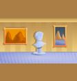 museum sculpture concept banner cartoon style vector image vector image