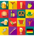 Octoberfest icons set flat style vector image vector image