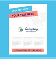 online banking title page design for company vector image