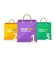 paper bag sale option banner vector image vector image
