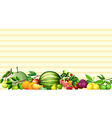 Paper design with fresh fruits vector image