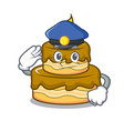 police birthday cake character cartoon vector image vector image