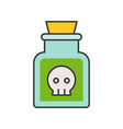 potion or poison in jar voodoo black magic vector image