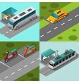 Public Transport Set vector image vector image