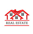 real estate house company logo vector image