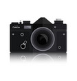 retro photo black camera isolated on white vector image vector image