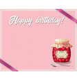 rose and polka dots birthday framework with jam vector image