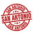 san antonio red round grunge stamp vector image vector image