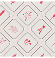 Seamless background with firework icons for your vector image vector image