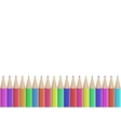 seamless colored pencils row vector image vector image
