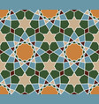 seamless islamic geometric pattern abstract vector image vector image