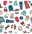 seamless pattern with woman fashion objects vector image vector image