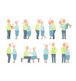 senior man and woman having a good time together vector image vector image