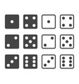 set of dices in front view vector image vector image