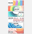 set of six colorful abstract header banners vector image
